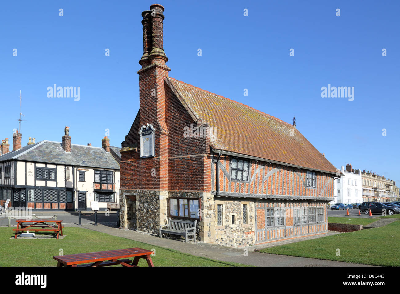 moot hall at aldeburgh on the suffolk coast - Stock Image