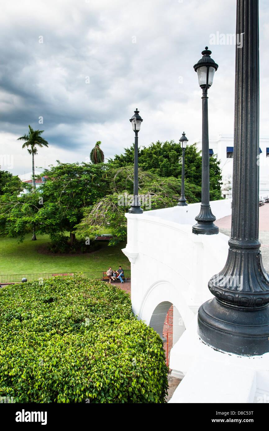 Plaza de Francia in Casco Antiguo. - Stock Image