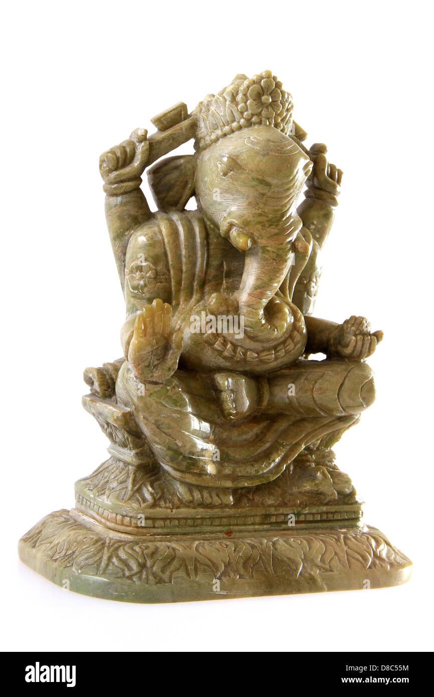 Statue of Ganesha also spelled Ganesa and Ganesh, also known as Pillaiyar, Ganapati and Vinayaka - Stock Image