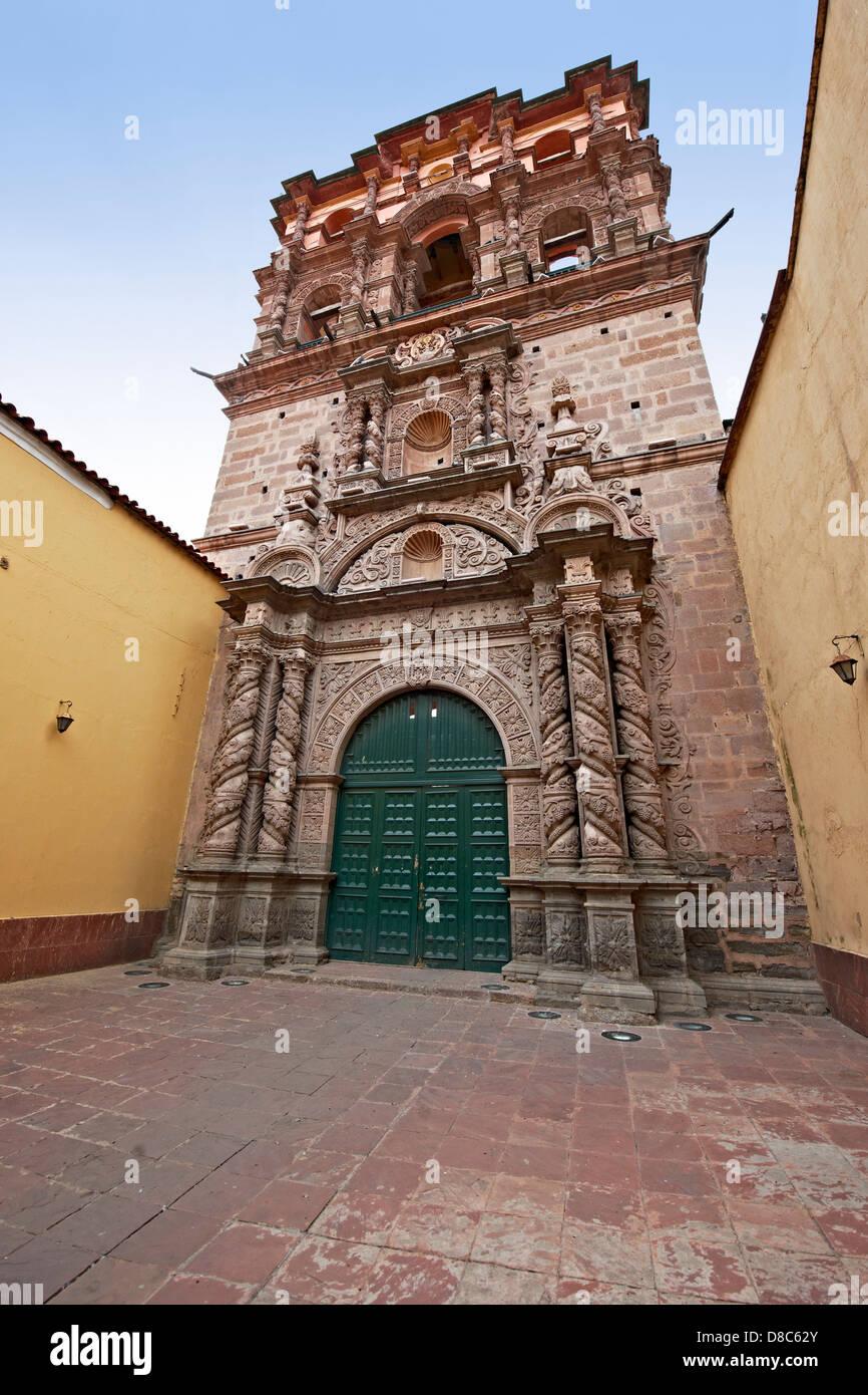 Torre de la Compania de Jesus, Potosi, Bolivia - Stock Image