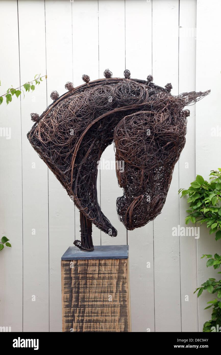 Equus, Horse head wire sculpture by Rupert Till, RHS Chelsea Flower ...