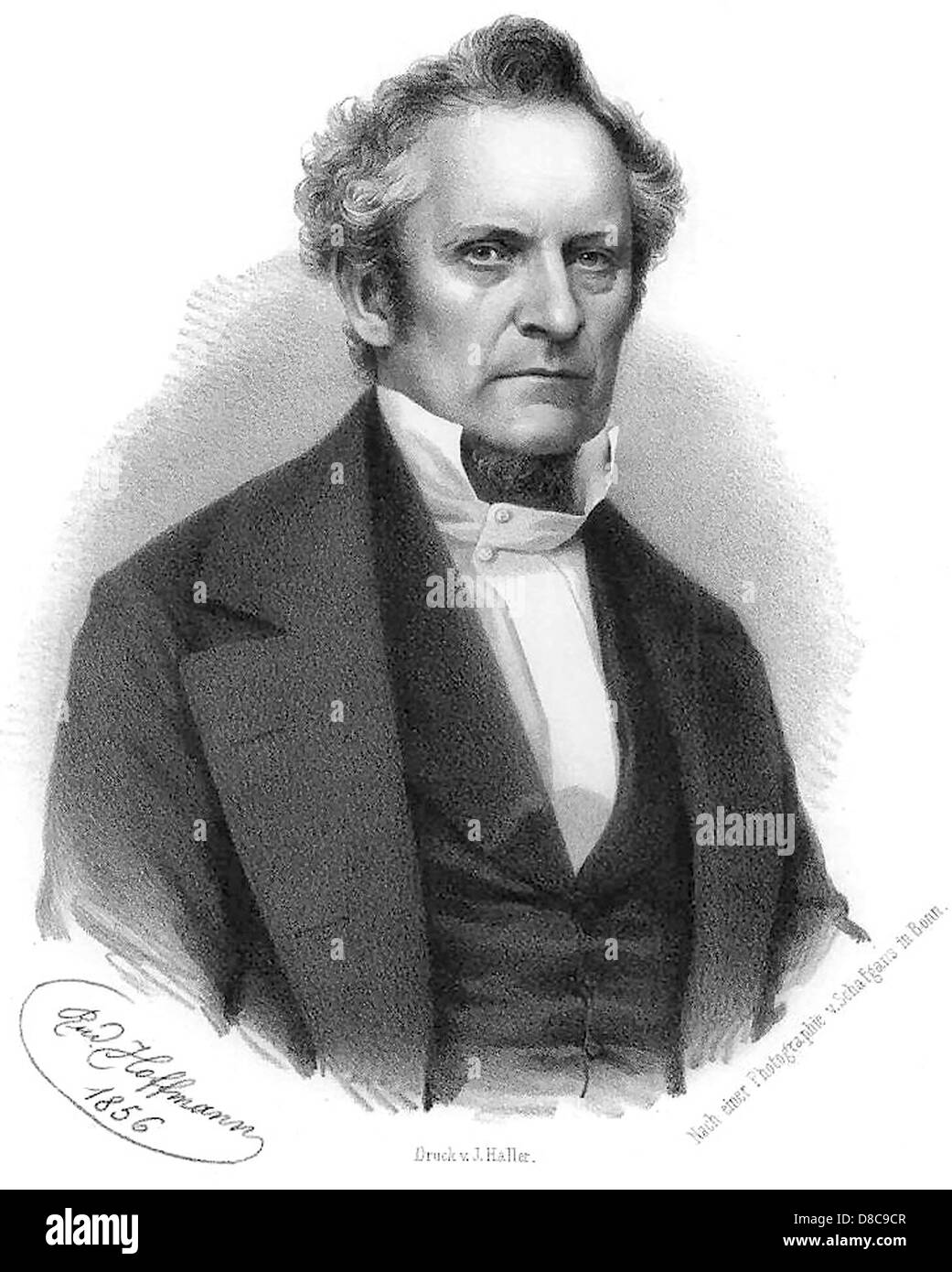 JULIUS PLUCKER (1801-1868) German mathematician and physicist - Stock Image