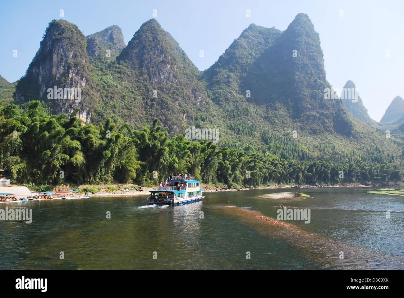 Li River, Southern China from Guilin to Yangshuo Stock Photo