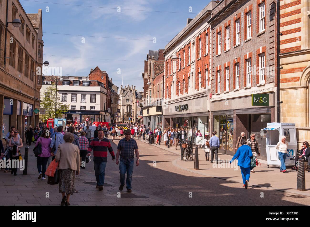 The city centre in Cambridge, England, Britain, Uk - Stock Image