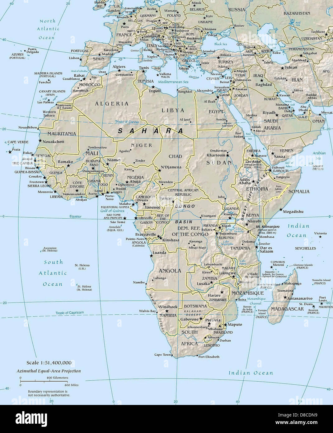Map Of Africa Geography | Jackenjuul