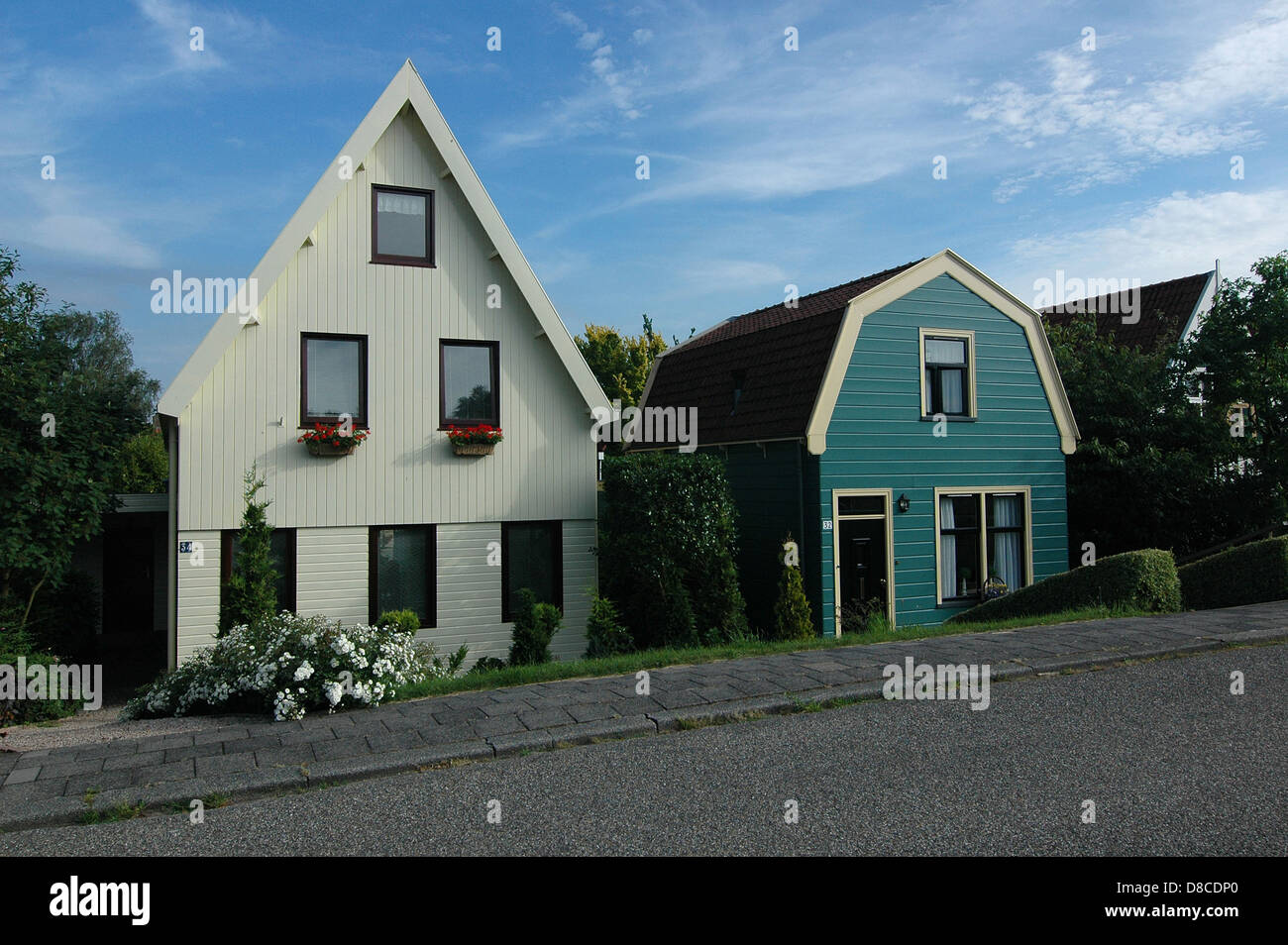 Houses in Weeps, The Netherlands - Stock Image