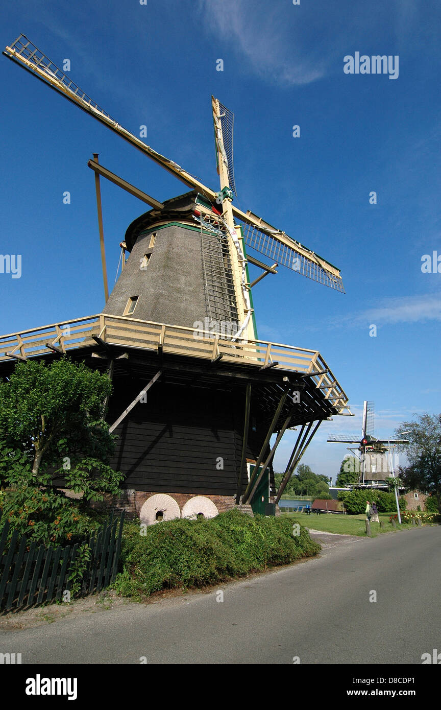 Windmills in Weeps, The Netherlands - Stock Image