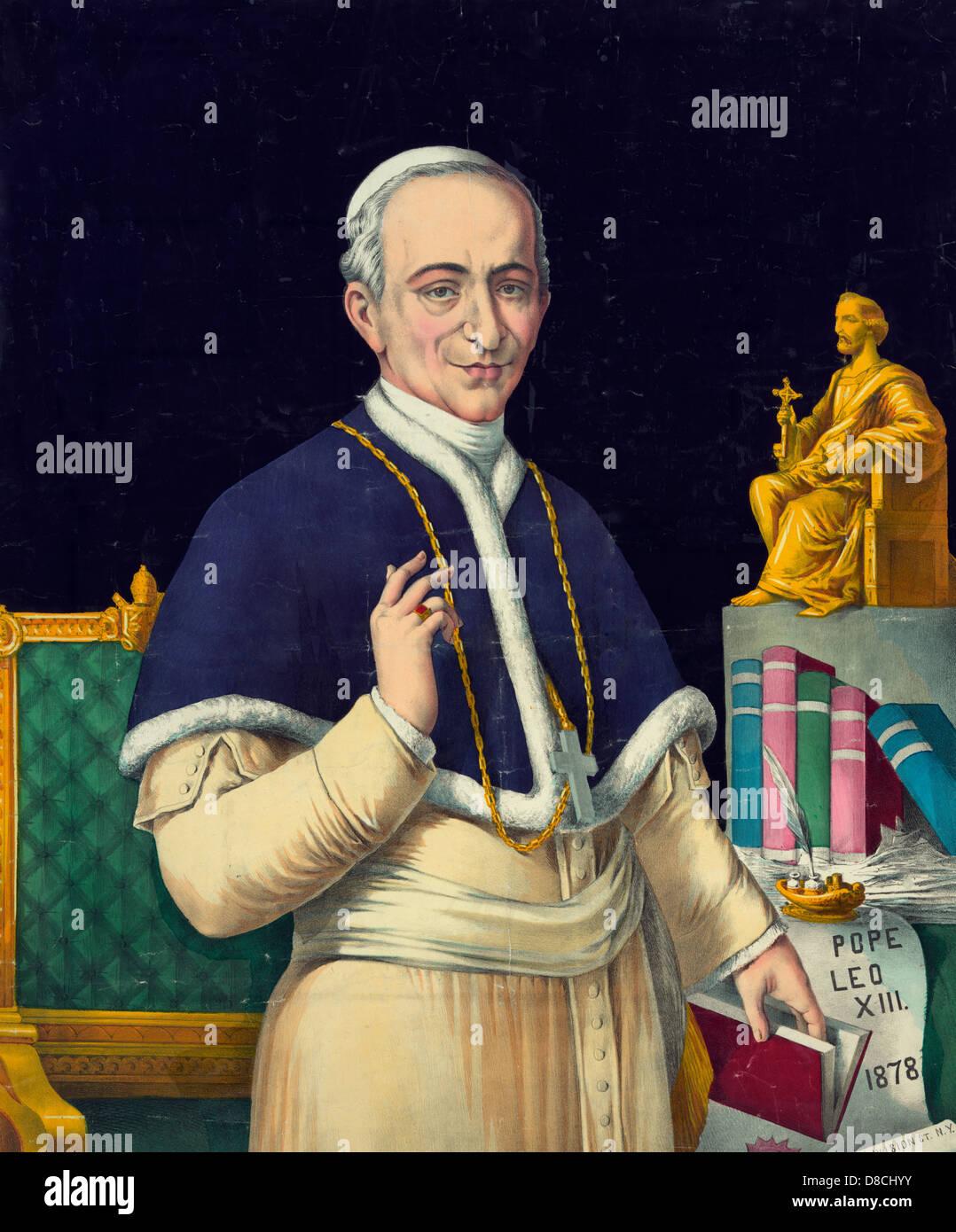 Pope Leo XIII, circa 1878 Stock Photo