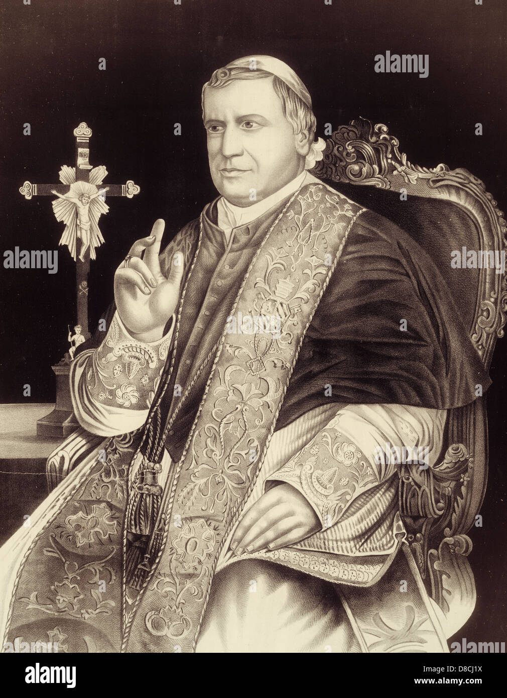 Pope Pius IX - Longest reigning Pope in the Catholic Church, serving from 1846 to 1878 - Stock Image