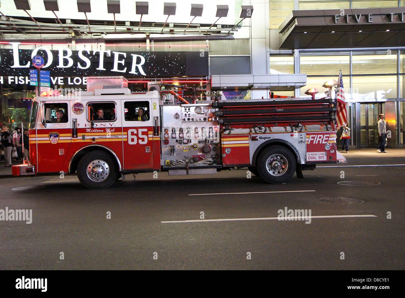 American Fire Engine Station outside Lobster restaurant ...