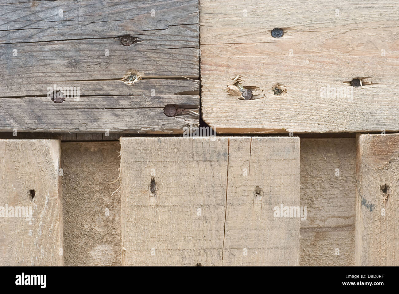 Aging and Weathered Wood as Design Element - Stock Image