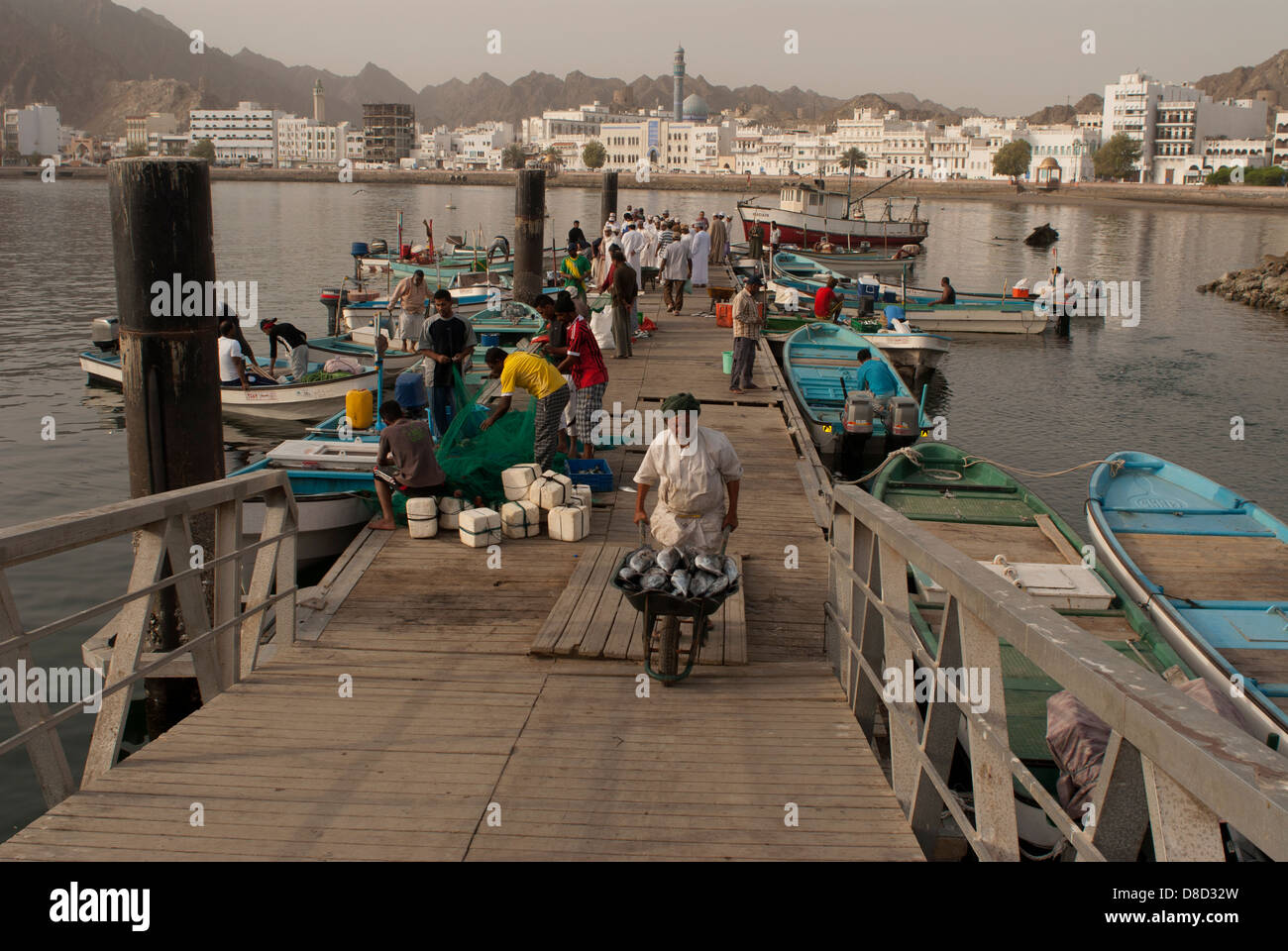 Fish pier, Muscat, Oman - Stock Image