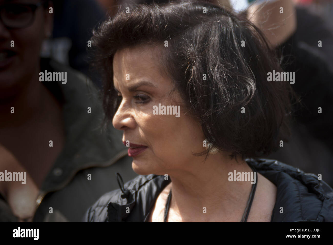 2013-05-25 Westminster, London. Bianca Jagger, a well known and respected environmentalist and campaigner joined - Stock Image