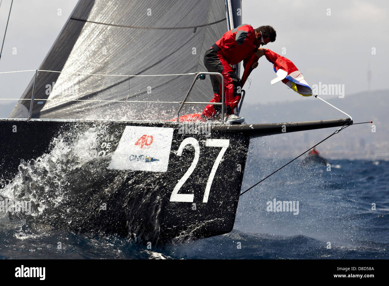 25 05 2013 Barcelona, Spain  Soto 40, Black Pearl in action
