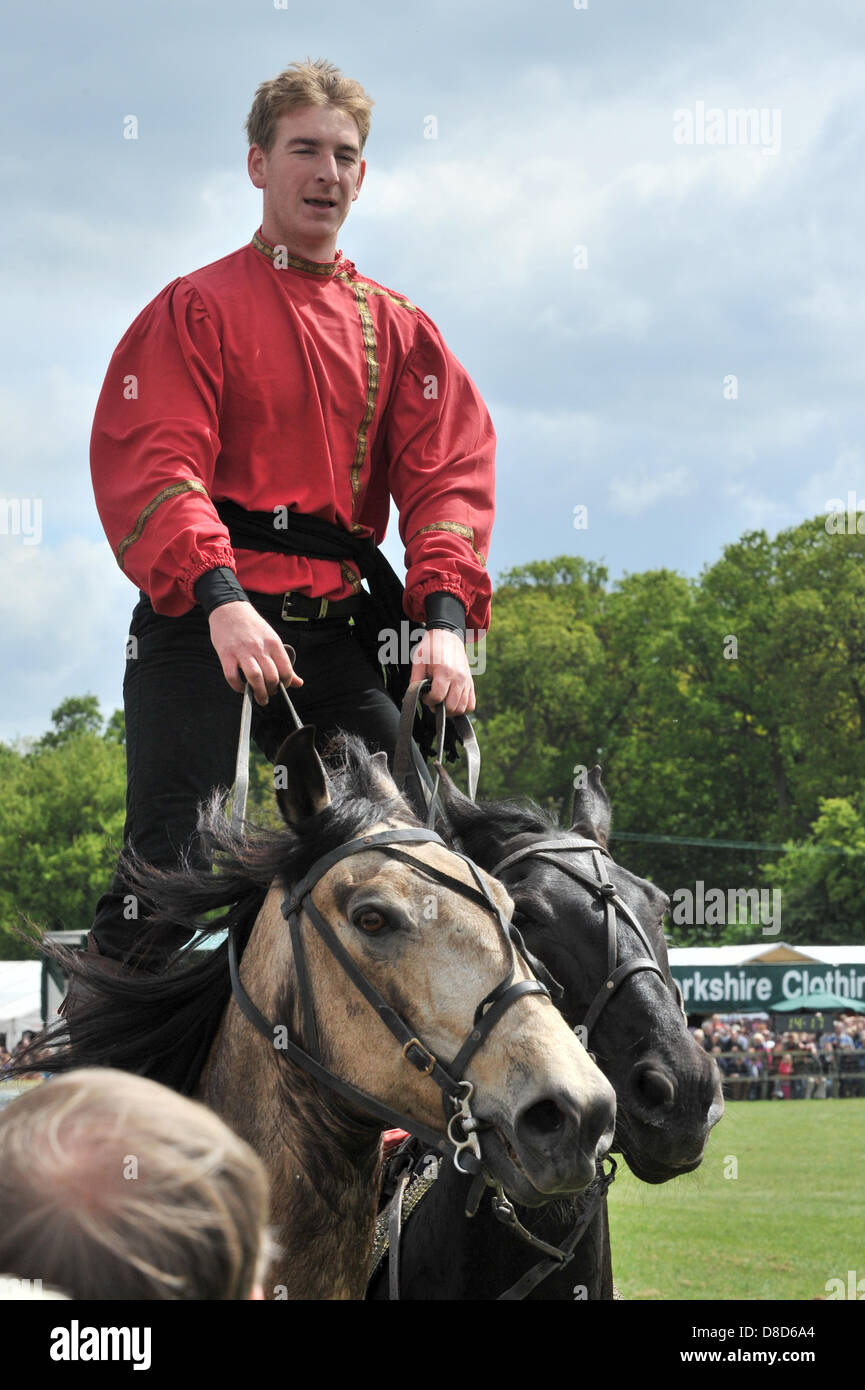 REDBOURN, UK. 25th May 2013. Hertfordshire County Show takes place this weekend. 'The Devil's Horsemen', - Stock Image