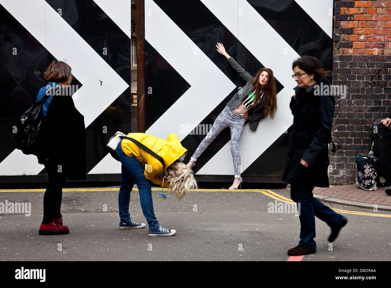 Photo Shoot, Brick Lane, London, England Stock Photo