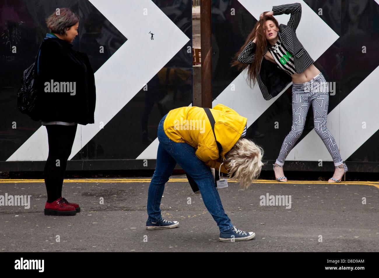 Photo Shoot, Brick Lane, London, England Stock Photo