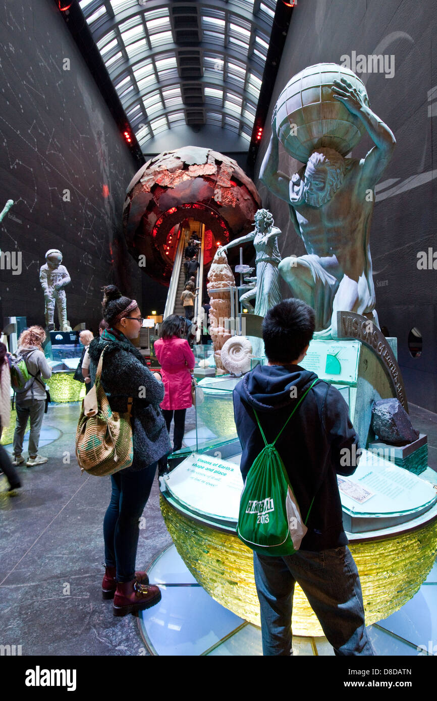 Visions of Earth Exhibition, The Natural History Museum, London, England - Stock Image