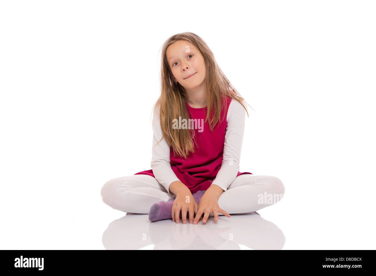 Young teen crossed legs
