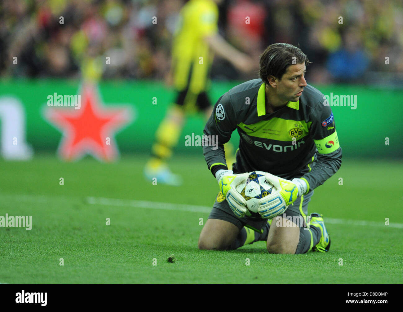 Dortmund's goalkeeper Roman Weidenfeller in action during the UEFA soccer Champions League final between Borussia - Stock Image