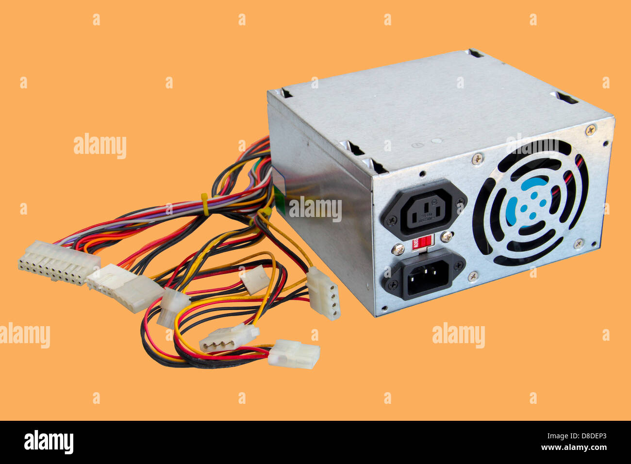 Broken computer power supply box. Concept of obsolete or broken IT ...
