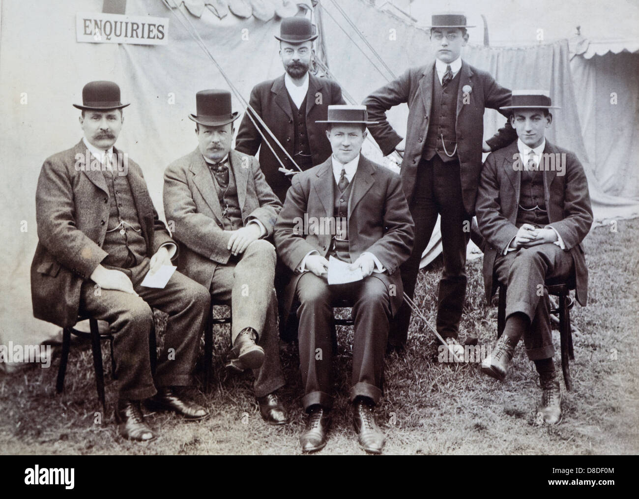 Original Founders of The Chelsea Flower Show London UK - Stock Image