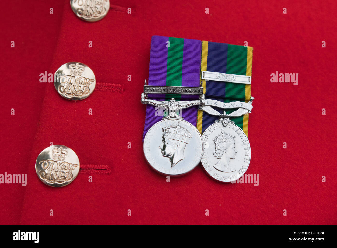 Chelsea Pensioners Medals at the Royal Hospital Chelsea London UK - Stock Image