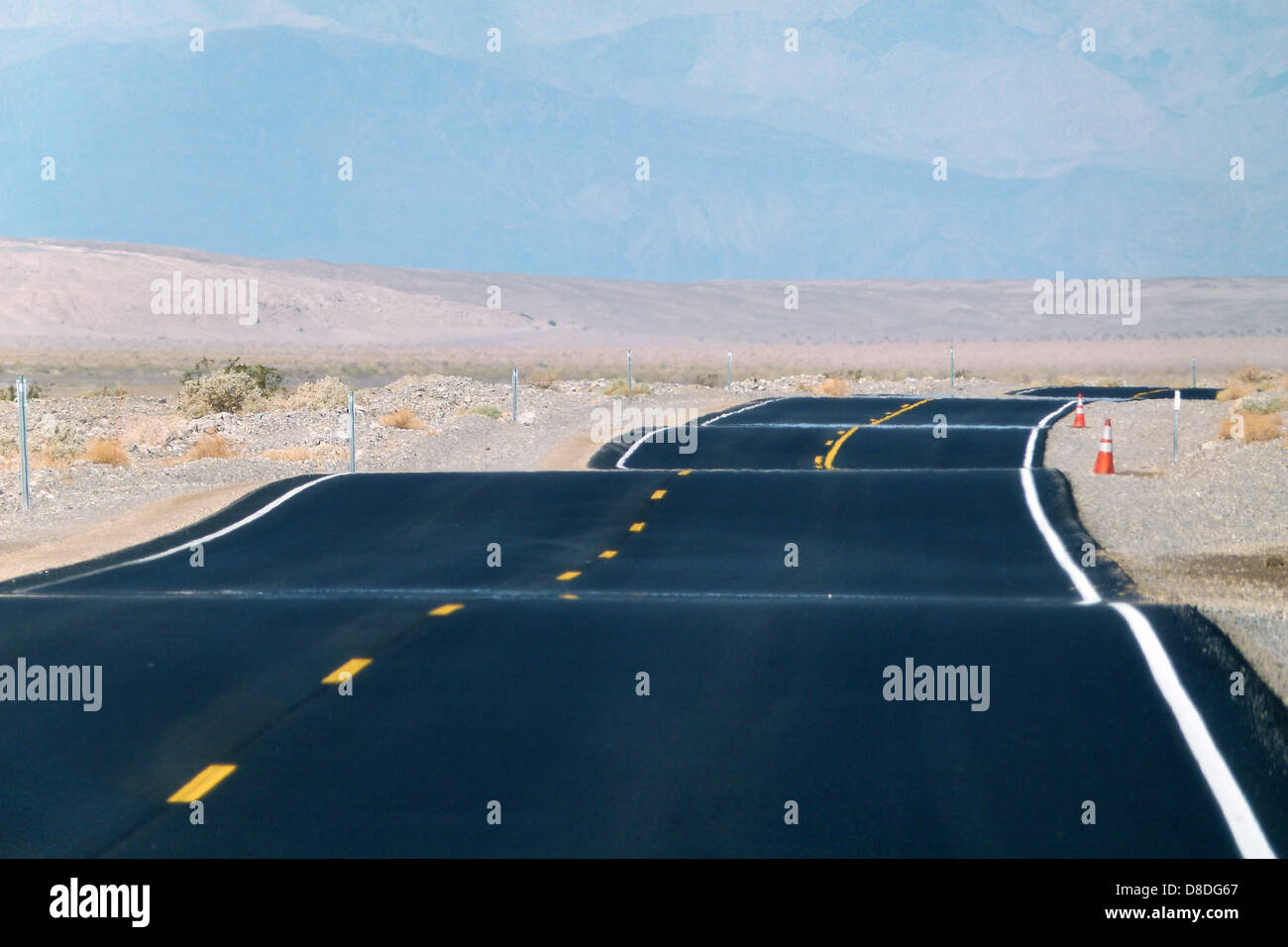 paved road death valley california usa - Stock Image