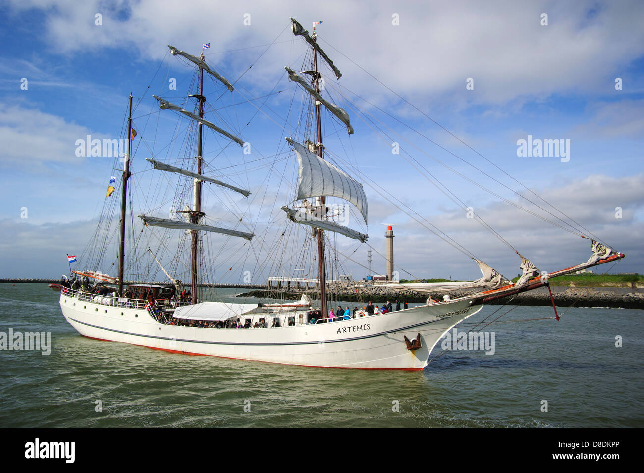 Three-masted barque Artemis during the maritime festival Oostende voor Anker / Ostend at Anchor 2013, Belgium - Stock Image