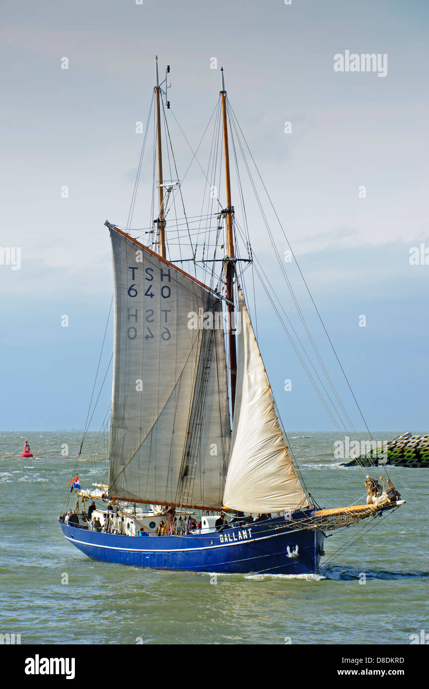The lugger Gallant, traditional fishing boat during the maritime festival Oostende voor Anker / Ostend at Anchor - Stock Image