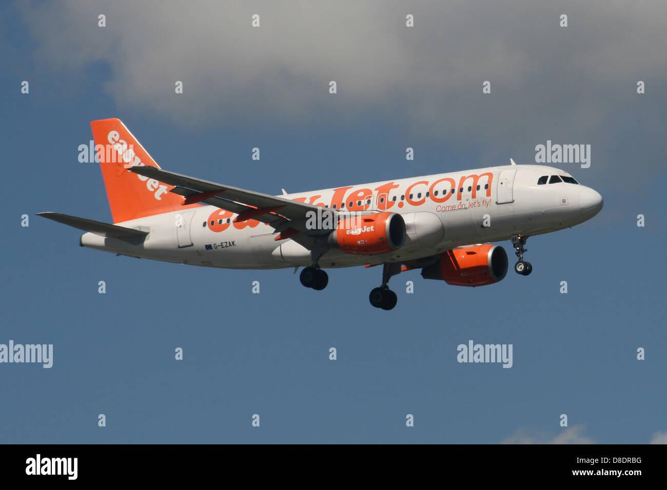 easyjet airbus - Stock Image