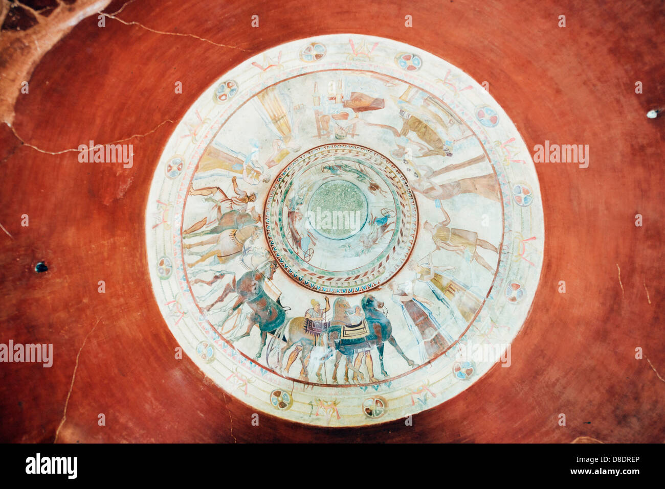 Europe, Bulgaria, Kazanlak; Thracian Tomb of Kazanlak (replica); Unesco World Heritage Site - Stock Image