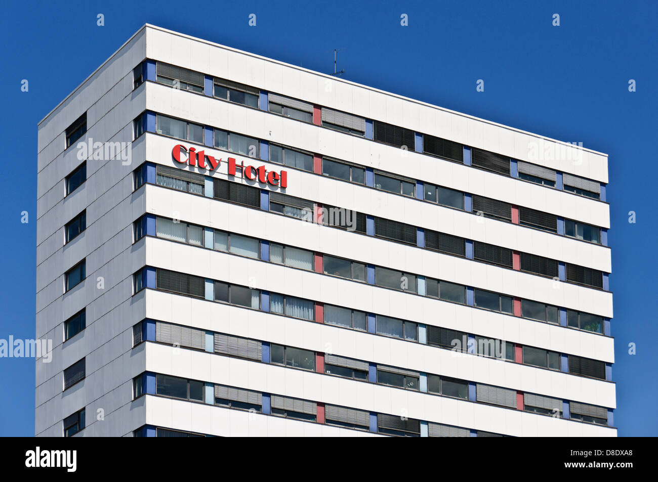Functional building of the City Hotel in Heilbronn, Germany - Stock Image
