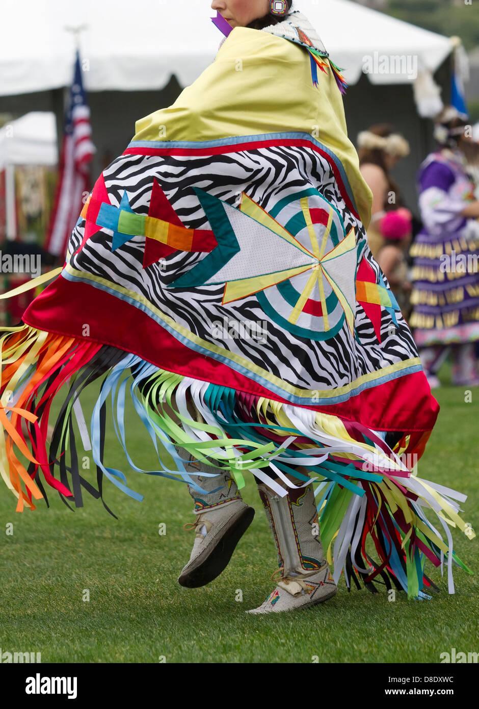 Native American Shawl Dancer - Stock Image