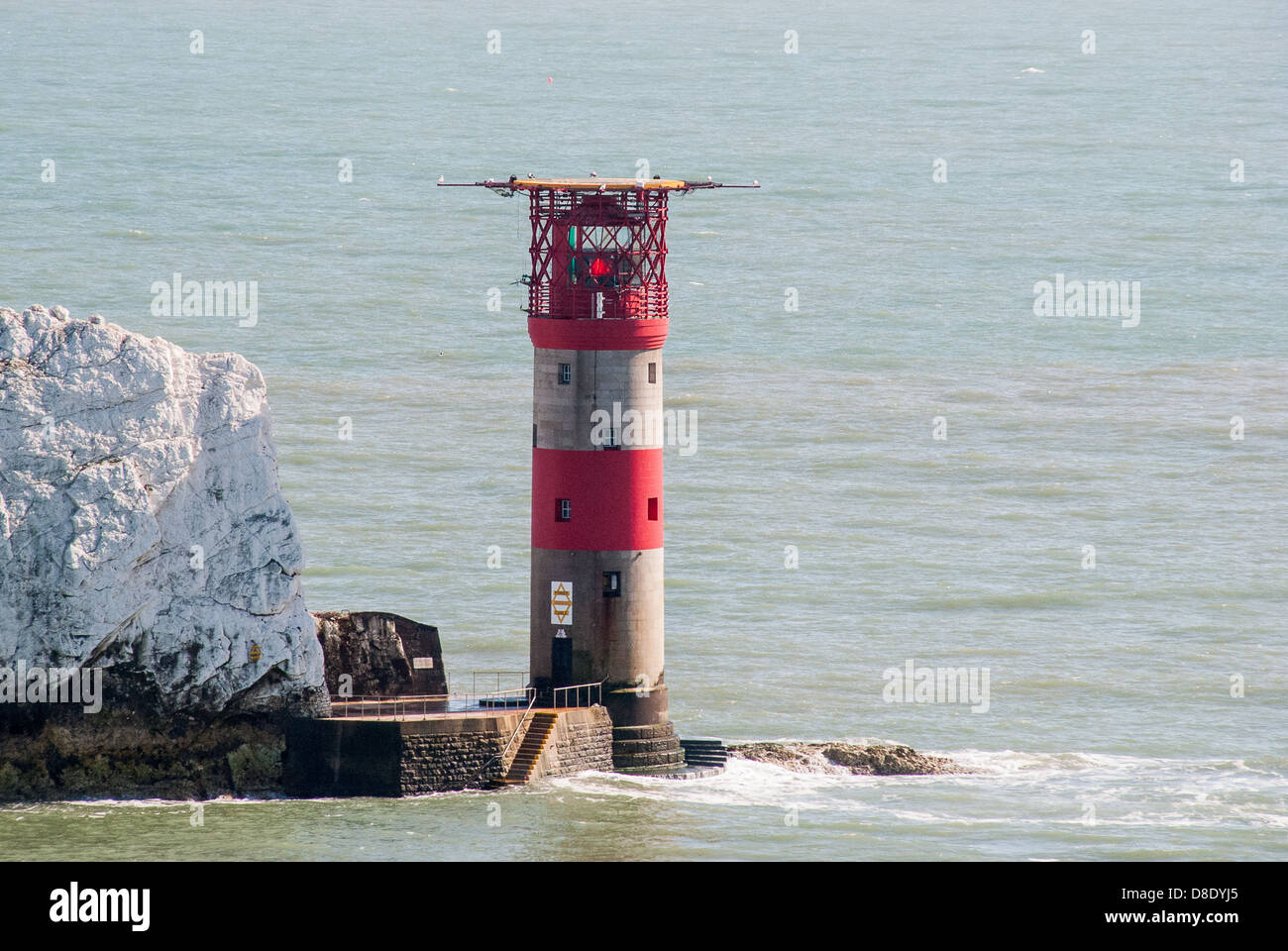 Aerial View of The Needles Lighthouse Isle of Wight - Stock Image