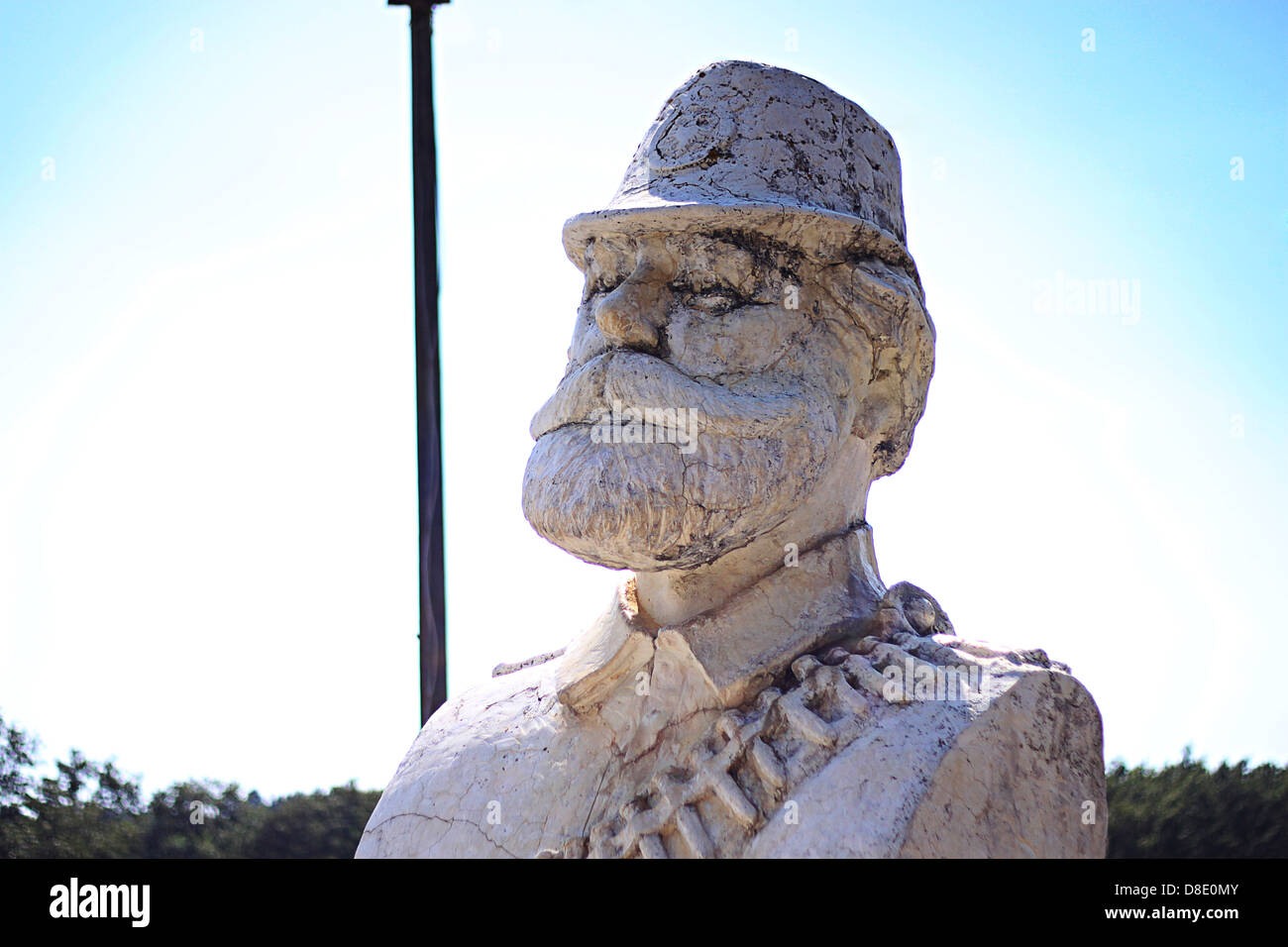 Sculpture of Adem Jashari who was the leader of Uçk during the Kosovo war in Prekaz Kosovo Stock Photo