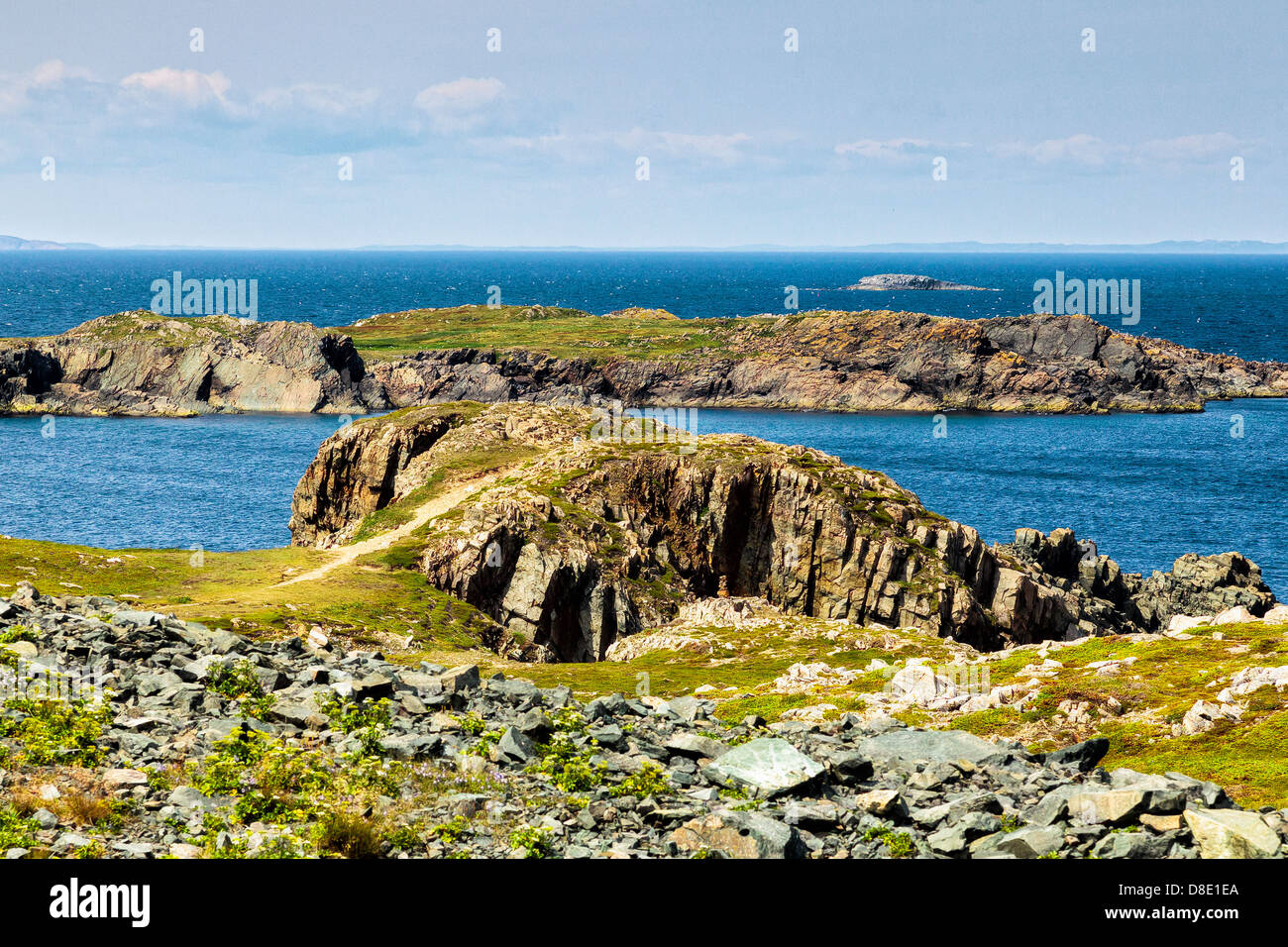 Dramatic Seascape View from Cape Bonavista, Newfoundland - Stock Image