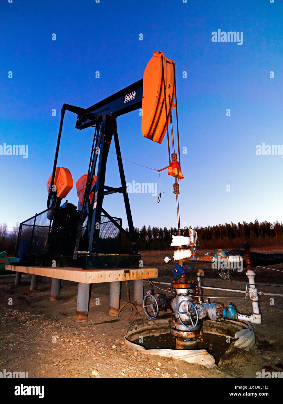 Paramount Resources compressor site at Kakwa in B.C. - Stock Image