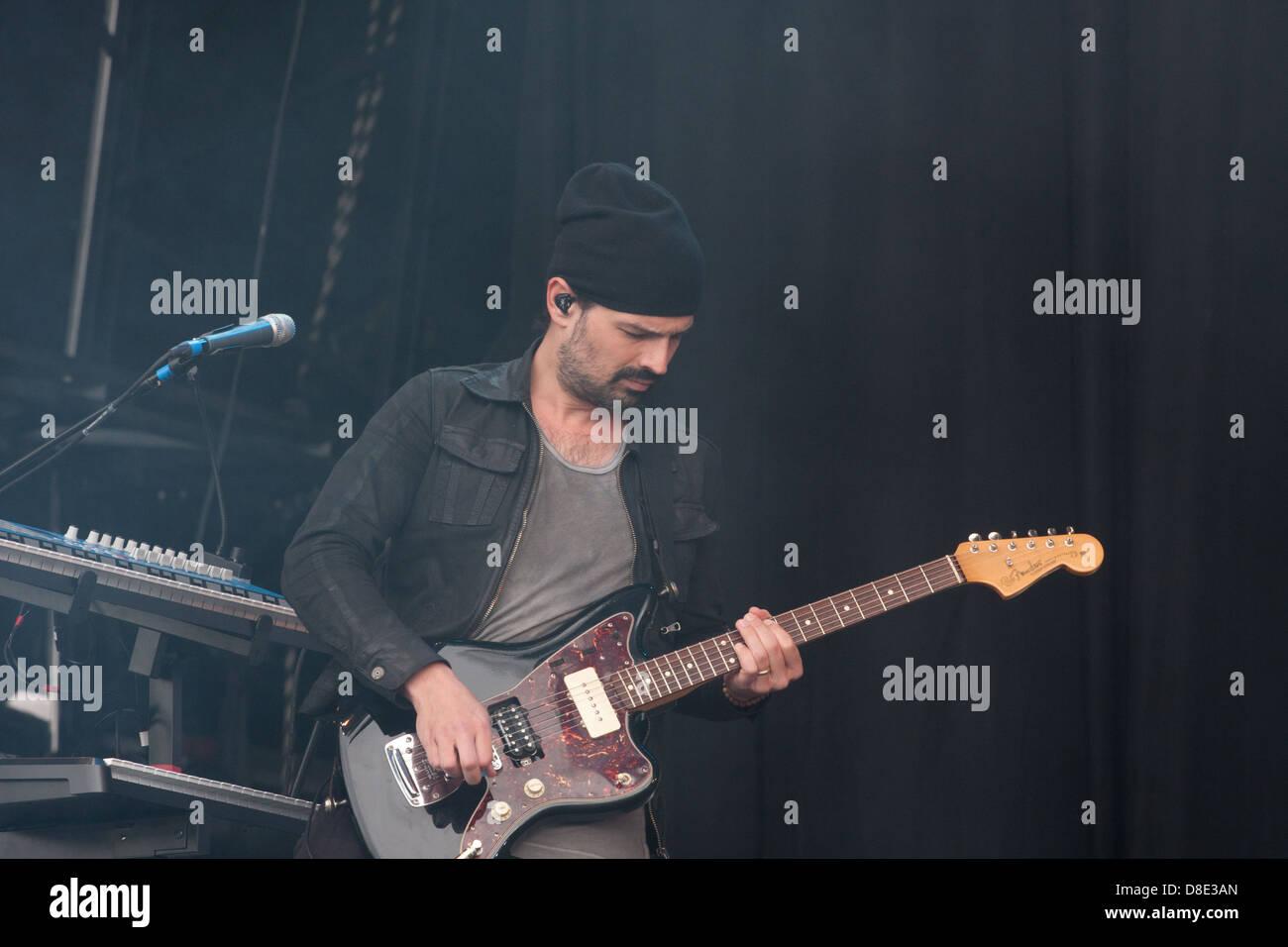 Tomo Miličević, base guitarist for 30 Seconds to Mars. - Stock Image
