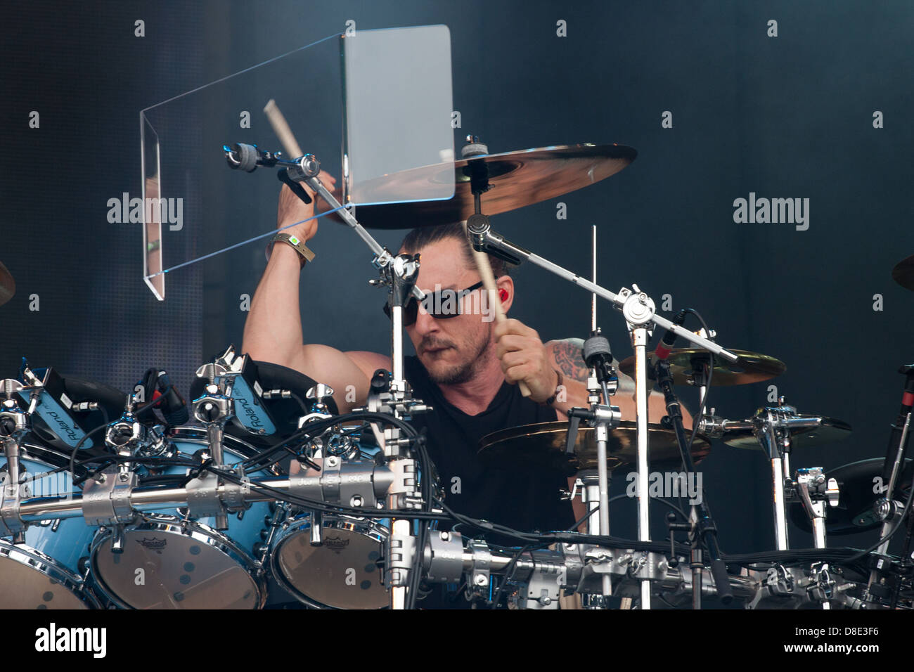 Shannon Leto, Drummer of 30 Seconds to Mars. - Stock Image