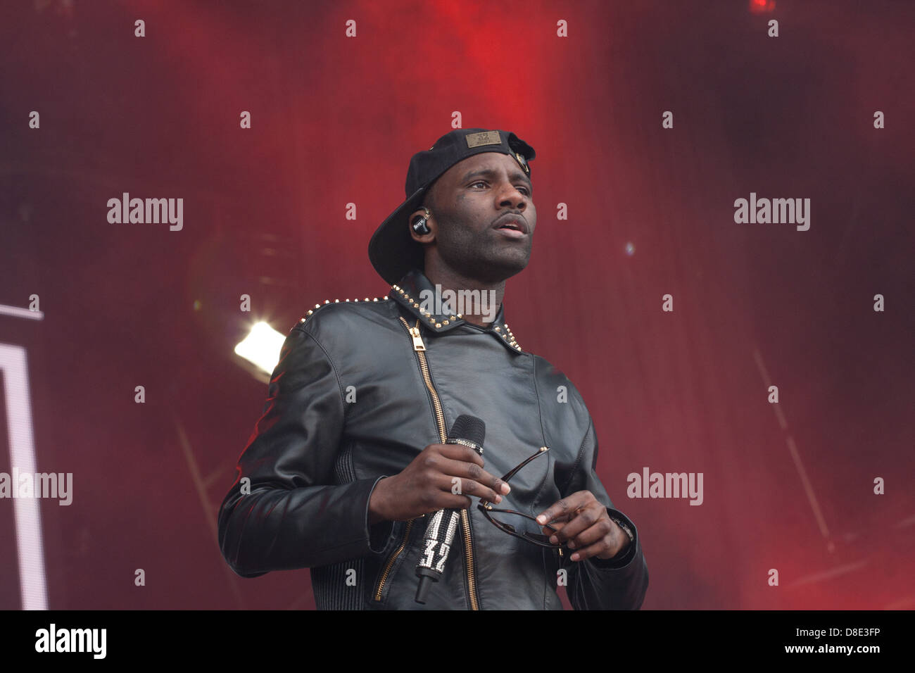 Rapper Wretch 32 performing at Radio1's Big Weekend 2013 in Derry, Northern Ireland. - Stock Image