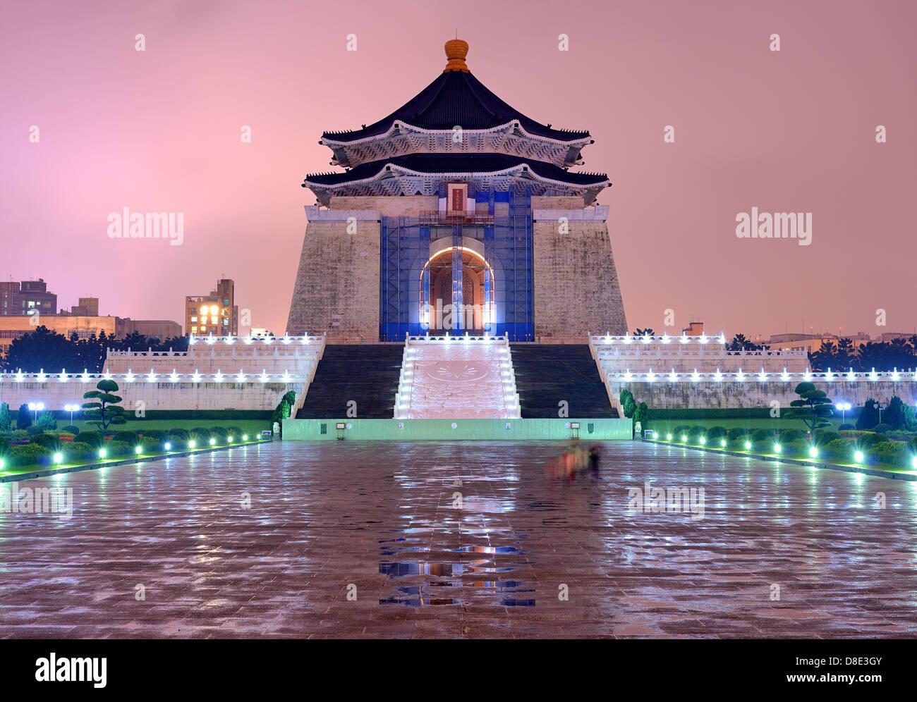 The Chiang Kai-Shek Memorial in Taipei, Taiwan. - Stock Image