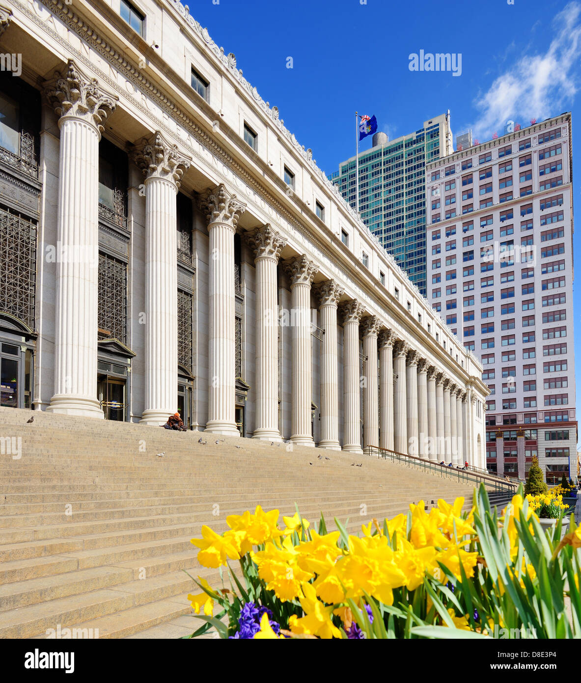James Farley Post Office April in New York, NY. - Stock Image