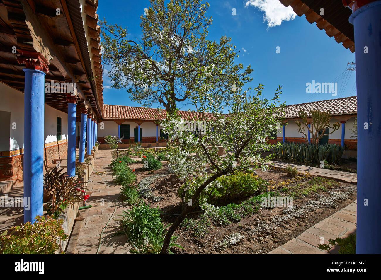 Atrium of the Convento de Santa Teresa, Potosi, Bolivia - Stock Image