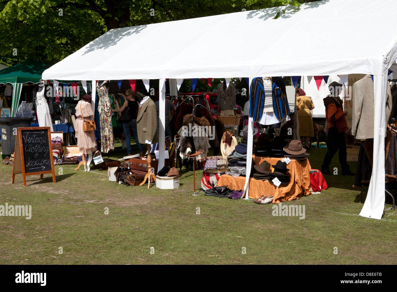 Vintage Clothing Stall At Haslemere Classic Car Show May Th - Car show tent