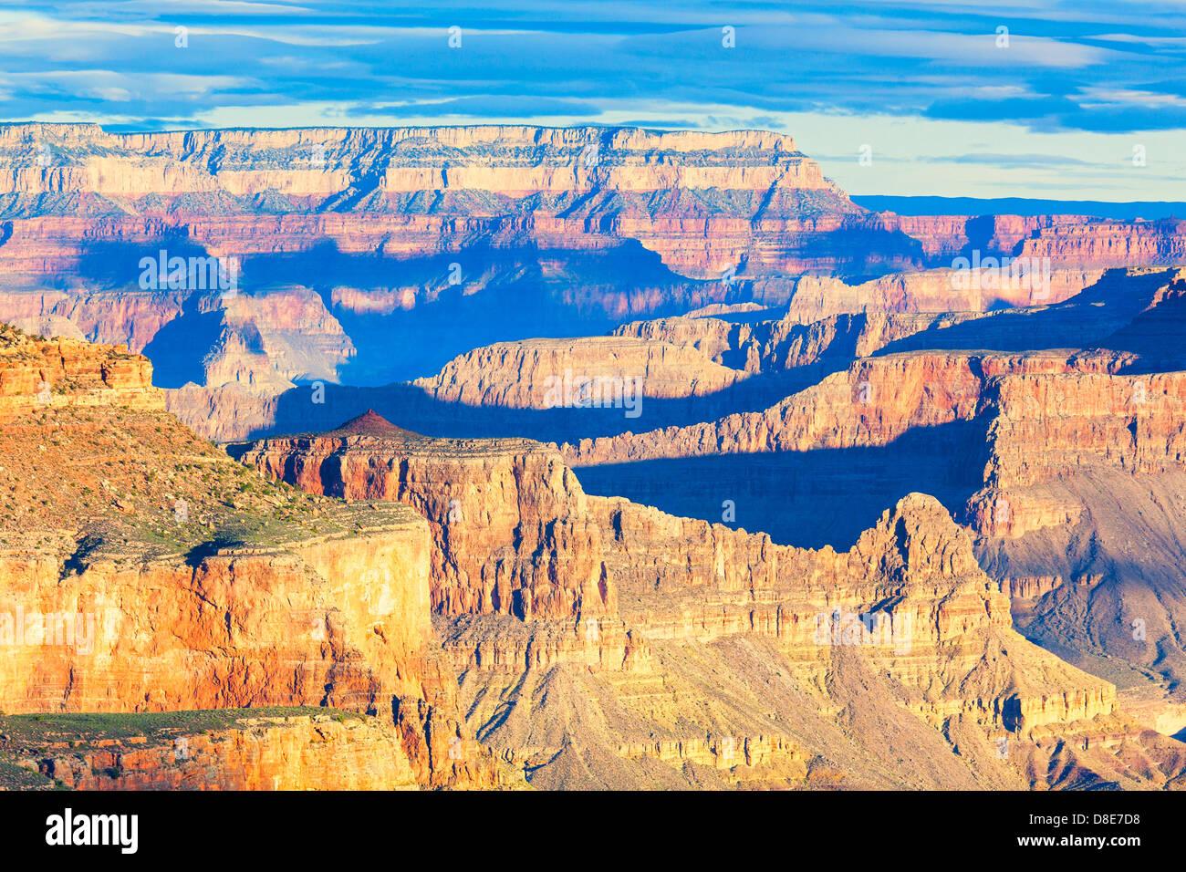 View at sunrise from South Kaibab Trail, Grand Canyon, Arizona, USA - Stock Image
