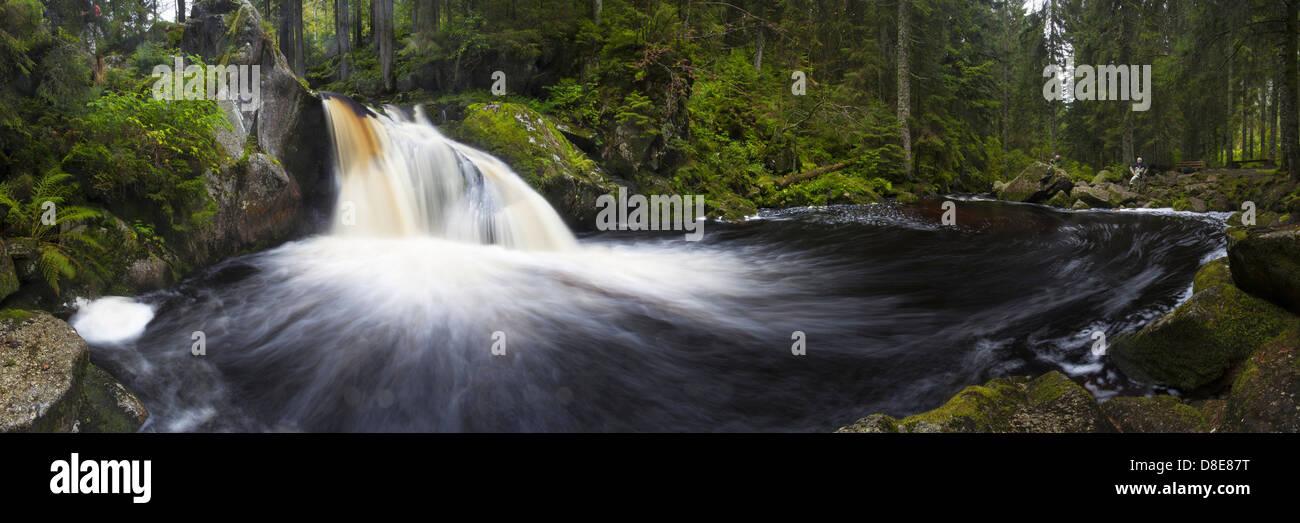 Waterfall Krai-Woog-Gumpen, Hotzenwald, Black Forest, Baden-Wuerttemberg, Germany, Europe Stock Photo