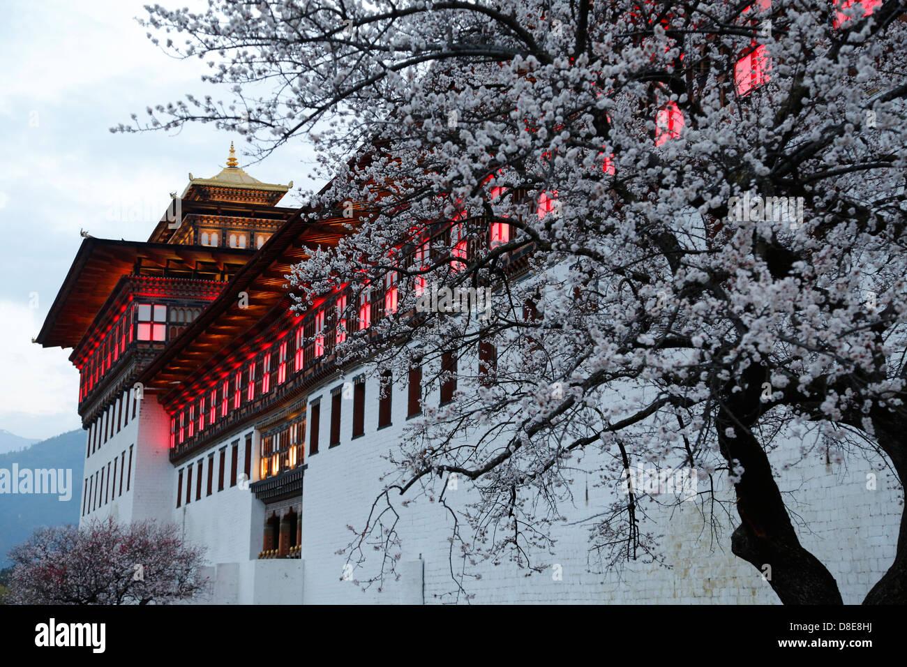 TashichoeDzong, Thimphu, Bhutan, Asien - Stock Image
