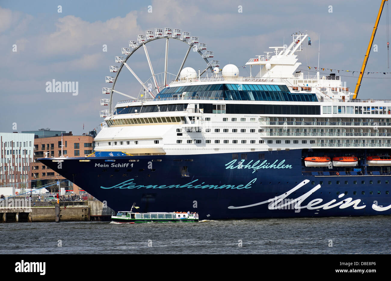 Cruise Ship Mein Schiff 1 at the cruise terminal in Hamburg, Germany, Europe - Stock Image