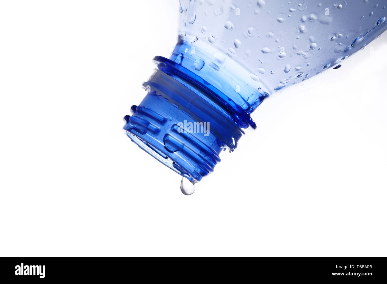 water drop from water bottle - Stock Image